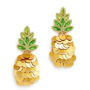 KATE SPADE Pineapple Earrings, NEW